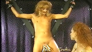 Haul queen spanked by his mistress in a hot female domination session