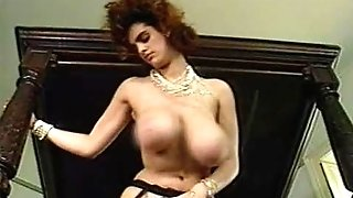 Old-school Natural Big Boobed Woman loving her Man