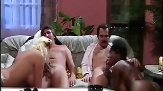 OLD SCHOOL Interracial 4some