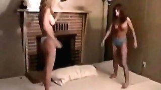 Retro Cougars Clawing Catfight