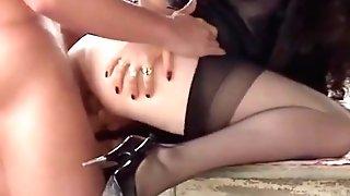 Italian Big Tits Cougar Bum-fucked Stockings