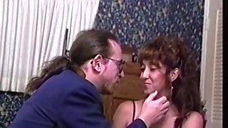 Retro latina fledgling degustating older mans spunk